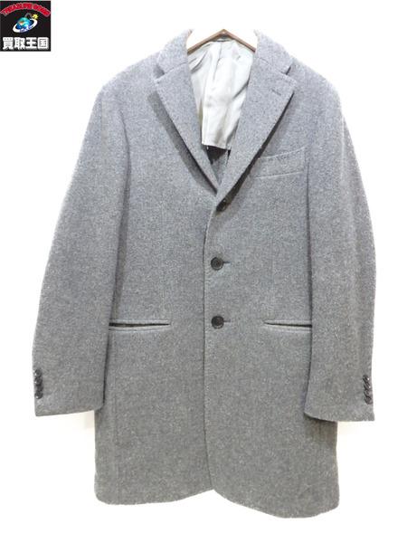 RING JACKET ウールチェスターコート リングシヂャケット グレー 48【中古】