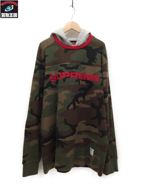 Supreme シュプリーム Hooded Waffle Ringer (L) 17AW【中古】