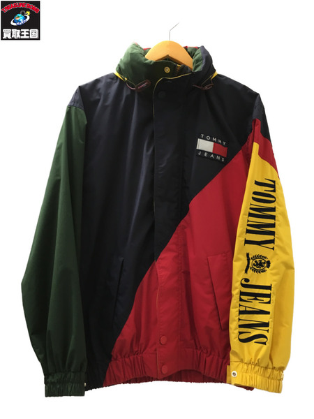 TOMMY JEANS トミージーンズ カラーブロック ナイロンジャケット S 【中古】[▼]