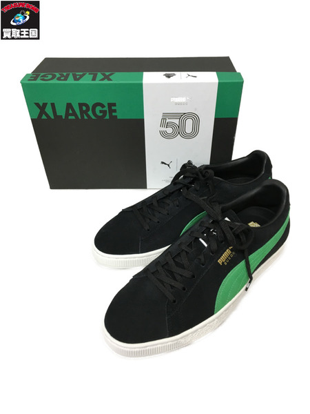 PUMA × X-LARGE Suede Classic (11)黒緑【中古】