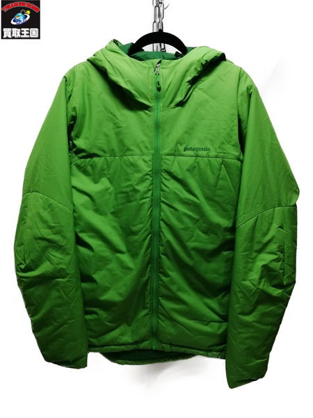 patagonia/Micro Puff Hoody/S/緑【中古】