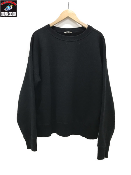 AURALEE 16AW BACK WOOL SWEAT BIG P/O ブラック (3)【中古】