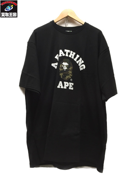 A BATHING APE S/S COLLEGE TEE Size3XL BLK【中古】