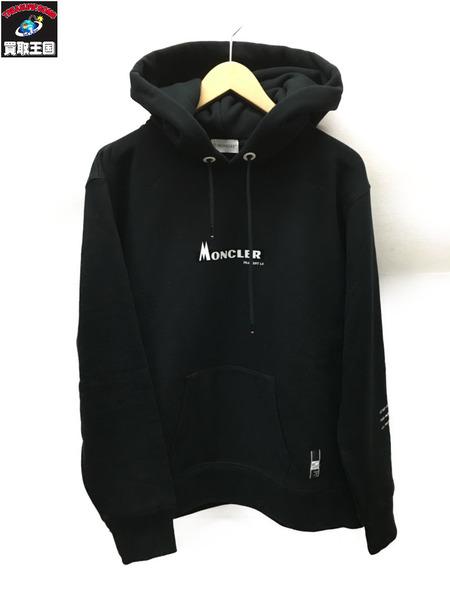 MONCLER×Fragment Design プルオーバーパーカー (S) ブラック【中古】