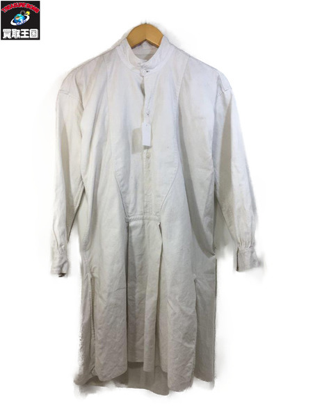 人気ショップ 1910s~ EURO古着 グランパシャツ スモックシャツ WHT【】, ヤマキタマチ fb80e0c4