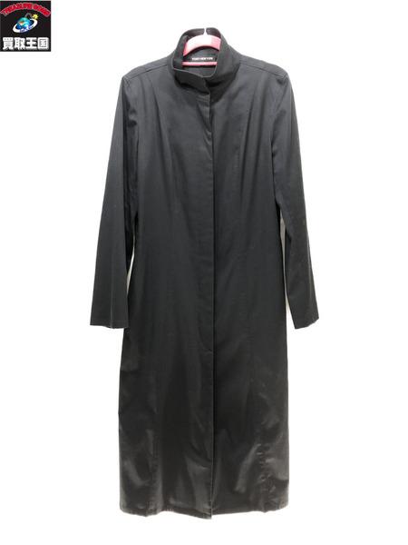 FOXEY NEW YORK/スタンドカラーコート 40 黒 フォクシーニューヨーク【中古】