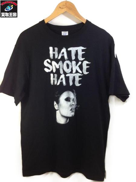 HATE SMOKE HATE T-SHIRTS BLK (SIZE:XL)【中古】