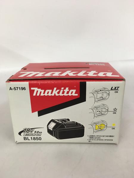 未使用 makita 18V 5.0Ah リチウムイオンバッテリ BL1850【中古】