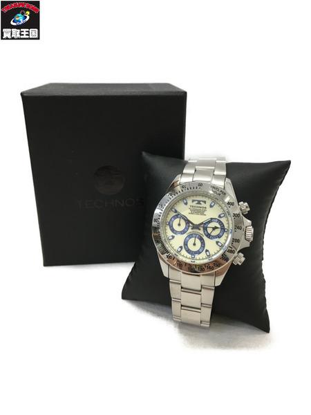 TECHNOS テクノス 腕時計 クロノグラフ T4554SL【中古】