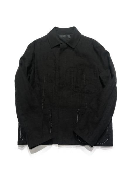 HAIDER ACKERMANN リネジャケット SIZE:44 ブラック【中古】[▼]