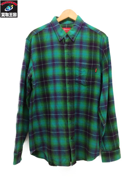 シュプリーム Supreme Shadow Plaid Flannel Shirt (M) 15SS【中古】