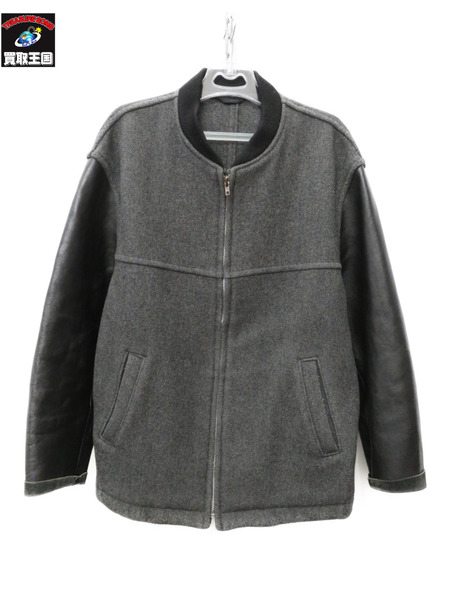 COMME des GARCONS レザー袖スタジャン AD1995 HJ-080770【中古】