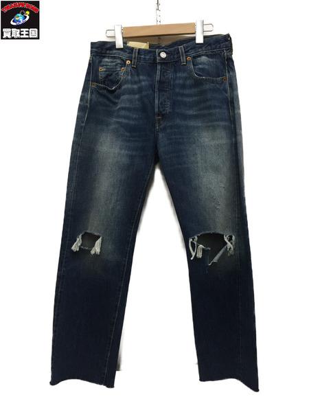 LEVI'S VINTAGE CLOTHING 501XX 1966年モデル トルコ製 66501-0130 ブルー W30【中古】[▼]