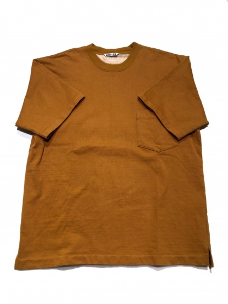 AURALEE STAND UP TEE オレンジ SIZE:3【中古】