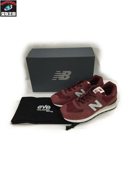 JUNYA WATANABE MAN/NEW BALANCE ML574JEW バーガンディ 27cm【中古】[▼]