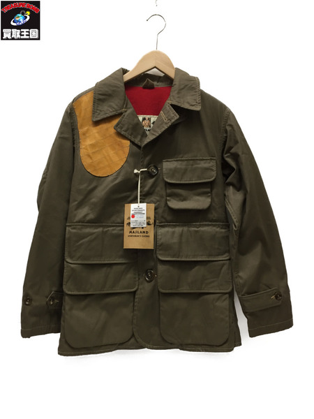 MASLAND COUNTRY COAT WOOL/LINED M /カーキ【中古】[▼]