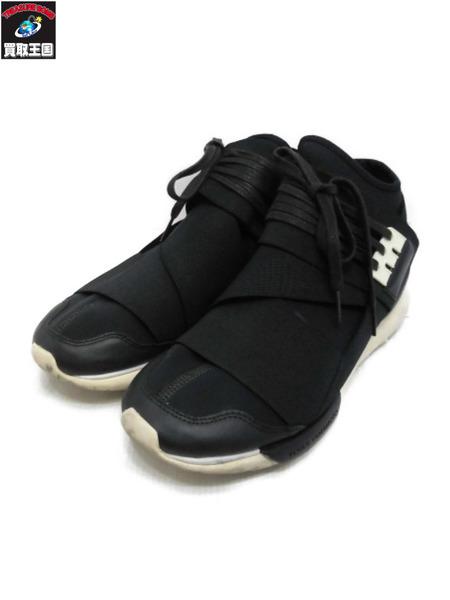Y-3 QASA HIGH BLACK×WHITE 26.5cm B35673 adidas×YOHJI YAMAMOTO【中古】