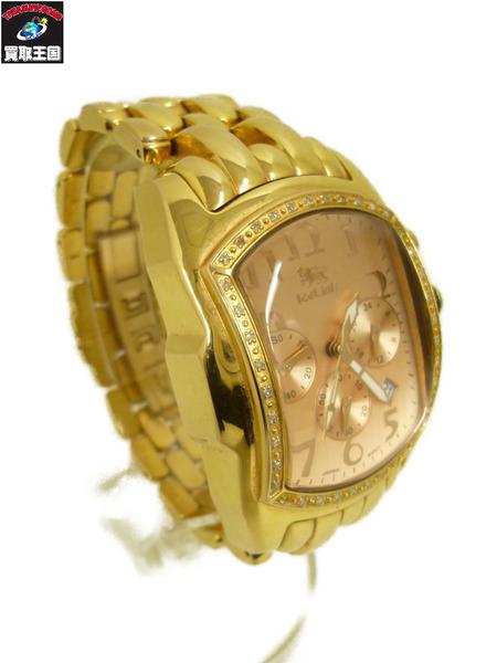ICELink Watch アイスリンク ファットアイス クロノグラフ ICELink クォーツ腕時計【中古】, ナガサキシ:daac2a94 --- officewill.xsrv.jp