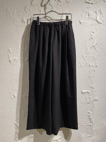 ENFOLD/リネンライクリラックスワイドパンツ/34/ブラック【中古】