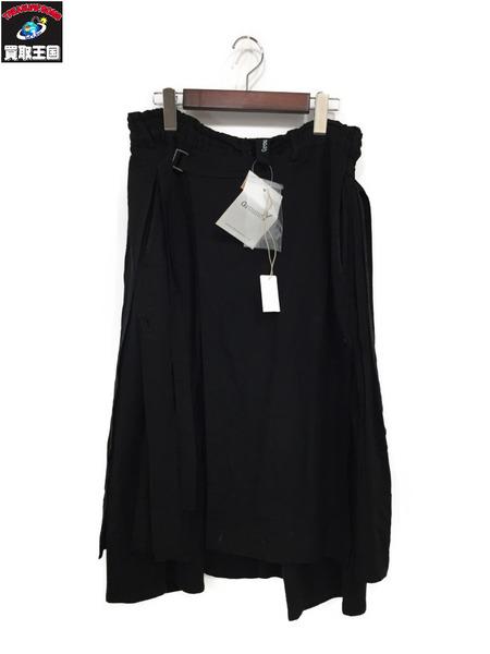 GroundY 18SS Wrap Pants Type 2 Rayon +40/ラップパンツ 3(L) 黒【中古】