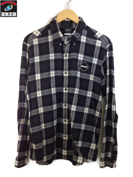 17SS F.C.Real Bristol (SIZE:XL) 37 STAR FLANNEL SHIRTS 【中古】