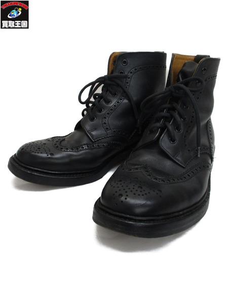 Alfred Sargent ウィングチップ ブーツ 26.5cm 黒【中古】[▼]