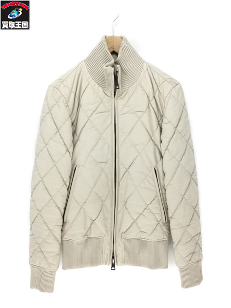 AKM RIBA lamb shirring jacket WHITE M【中古】