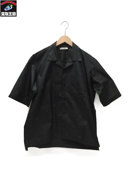 RYUYA KIMURA S/S ファインパターンオープンカラーシャツ BLACK size4【中古】