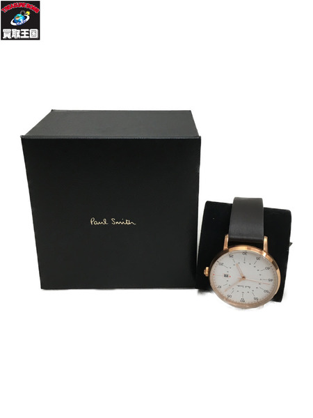 Paul Smith 腕時計 P1007 クォーツ 革ベルト 茶/白【中古】