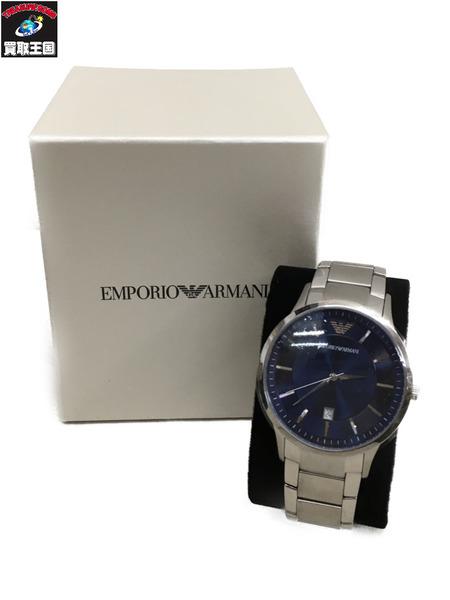 EMPORIO ARMANI 腕時計 AR-2477 EMPORIO クォーツ 銀 腕時計/青 AR-2477【中古】, 朝日町:05ff7a47 --- officewill.xsrv.jp