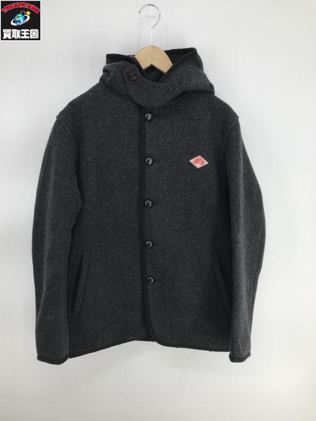 Danton ウールモッサーシングルフードジャケット チャコールグレー 40【中古】