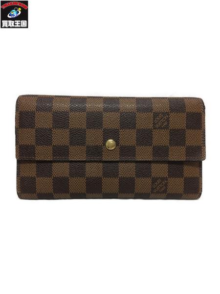 ルイヴィトン ポルトフォイユインターナショナル N61217 三つ折り財布【中古】