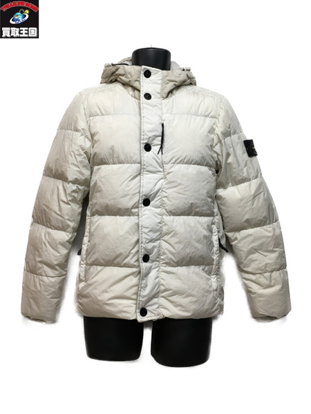 STONE ISLAND GARMENT DYED CRINKLE REPS NY DOWN/WHITE (S)【中古】