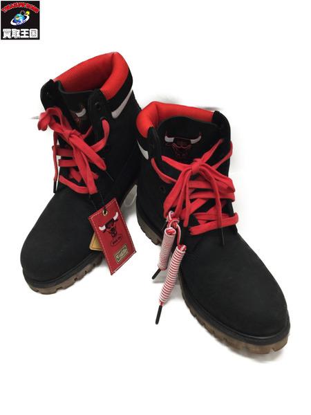 TimberlandxMitchell&Ness NBA 6 Inch Boot Chicago Bulls 26.0 BLK【中古】