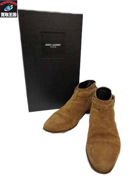 SAINT LAURENT ブーツ ベージュ 40 25.0cm【中古】