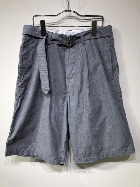 graphpaper/Typewriter Belted Shorts/1/グレー【中古】