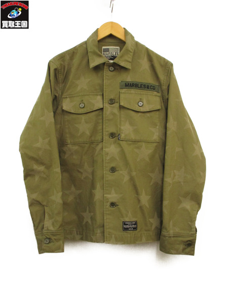 MARBLES BDU SHIRT MSH-S1802-KHAKI ミリタリーシャツ (S)【中古】