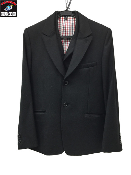RUDE GALLERY×Ben Sherman ルードギャラリー×ベン シャーマン セットアップ スリーピース 黒 スーツ【中古】