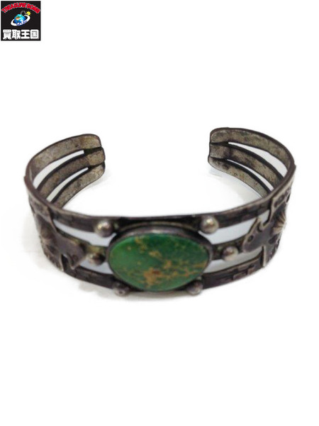 1940s~ NAVAJO Thunderbird Turquoise Bangle 卍 【中古】