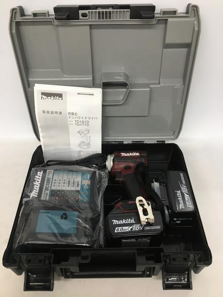 【未使用】 makita マキタ 18V充電式インパクトドライバ TD171DRGXAR【中古】