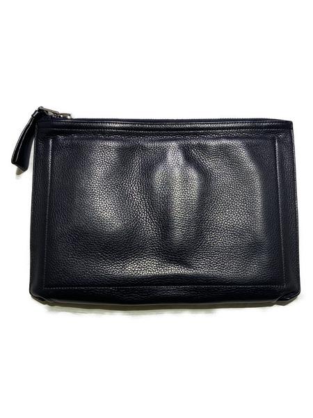 TOM FORD/Big-Zip Clutch Bag/ブラック【中古】[▼]