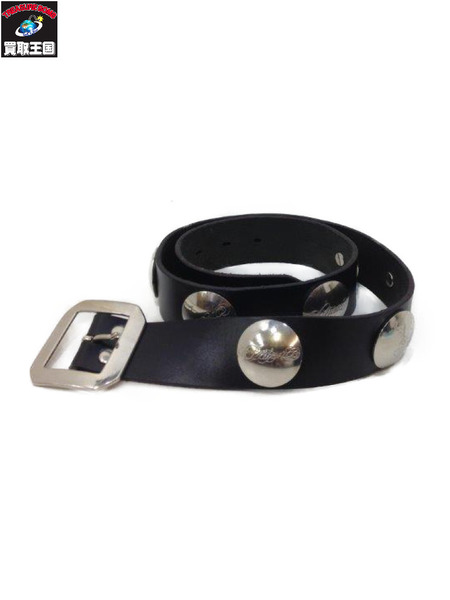 14SS UNDERCOVER Concho Belt BLK コンチョボタン ベルト 参考定価¥41,040-【中古】