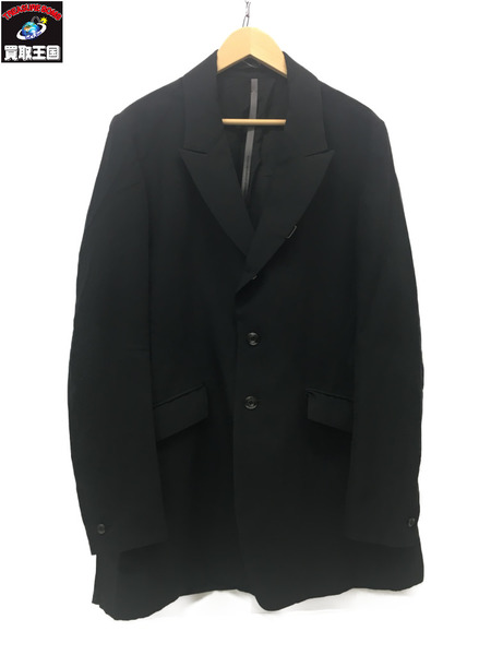 KAZUYUKI KUMAGAI ATTACHMENT リネンウールロングジャケット 3 黒【中古】[▼]