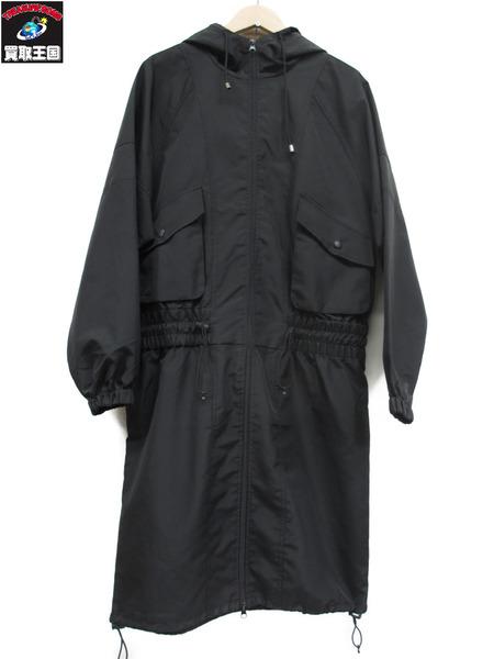 STUSSY ミリタリーロングパーカー(M)黒【中古】
