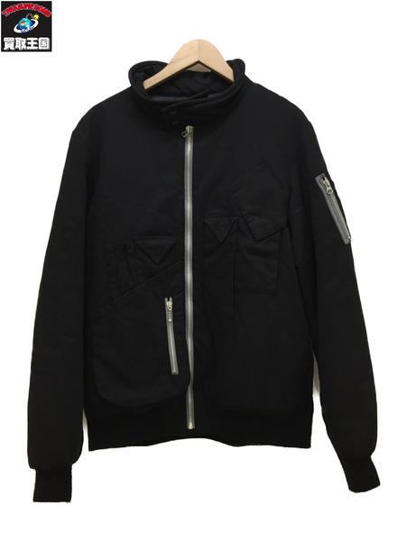 HAMNETT×LUKER MA-1ジャケット(L)黒【中古】