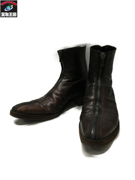 FAGASSENT ファガッセン half zipping straight camden shadow leathe Boot 9【中古】[▼]