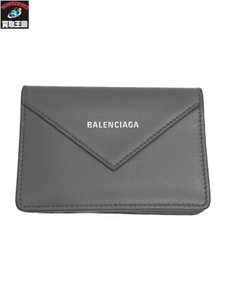 BALENCIAGA ペーパーシン/カードケース グレー 499201/1215/Z/203437【中古】