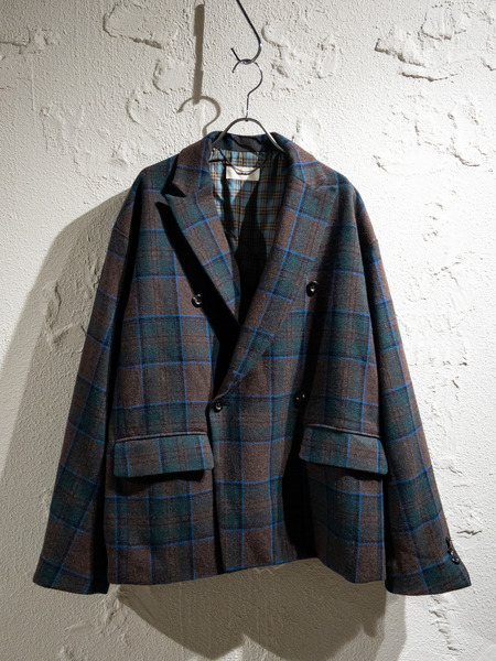 Jieda/19AW/PLAID TAILORED JACKET/2/GRN【中古】