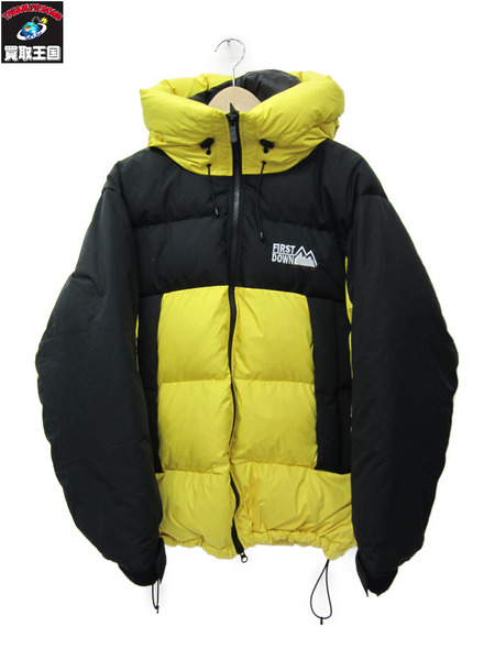FIRST DOWN 18AW DOWN PARKA M 黄×黒【中古】