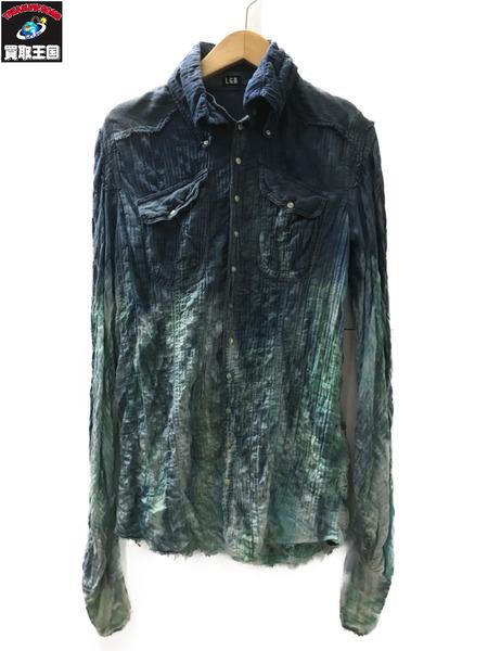 【SEAL限定商品】 L.G.B. shirt-g std-od M 91059 ロンググラデーションシャツ 1【】[▼], 村田町 d84a391c